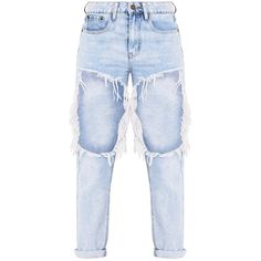 Madisson Light Wash Extreme Open Thigh Mom Jean ❤ liked on Polyvore featuring jeans, pants, bottoms, pantalones, blue jeans, destroyed jeans, blue distressed jeans, light wash distressed jeans and destroyed boyfriend jeans