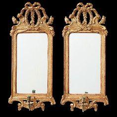 75. A pair of Gustavian one-light girandole mirrors by Johan Åkerblad, master 1758-1733 in Stockholm.