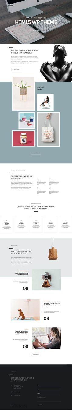 Kana – Creative Agency WordPress Theme
