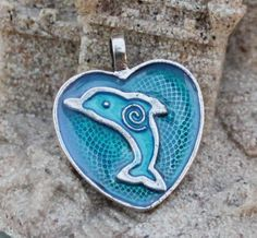 Charity Item Dolphin Pendant  Benefits Ric O'Barry's The Dolphin Project by GreyGyrl, $8.00