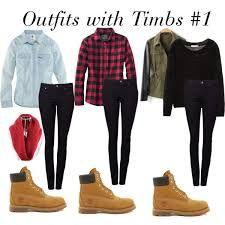 Resultado de imagen para outfit botas timberland para mujer