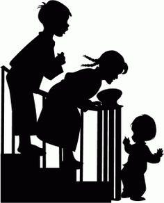 Silhouette Design Store - View Design #69877: children sneaking downstairs