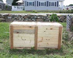 How to build a compost bin from reclaimed wood: Add hardware