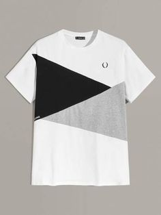 Men Heather Grey Panel Colorblock Tee Women Clothes For Cheap, Collections, Styles Perfectly Fit You, Never Miss It! New T Shirt Design, Streetwear, Stylish Men, Online Shopping Clothes, Mens Tees, Types Of Sleeves, Color Blocking, Heather Grey, Long Sleeve Shirts
