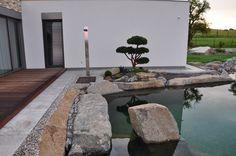 terasa, zahradní sprcha, bonsai