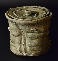 作品No.12 岡部嶺男 古瀬戸水指 Okabe Mineo Water container, Old-seto