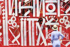 USA, Florida, Miami, Wynwood, Wynwood Walls, mural by Retna ©Ludovic MAISANT