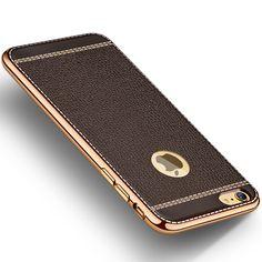 Luxe soft silicon gold plating case voor iphone 7 gevallen 6 5 6 s plus voor iphone 5 s case plus beschermende cover P35