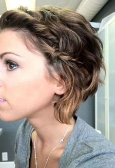 Loose side braid half updo