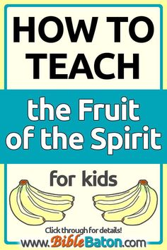 Thinking of teaching the Fruit of the Spirit in your Sunday School, VBS, or children's ministry? Where do you start? These quick tips will get you on the right track as you prepa Bible Lessons For Kids, Bible For Kids, Preschool Lessons, Preschool Bible, Free Sunday School Lessons, Youth Lessons, Preschool Class, Kindergarten, 5 Rs