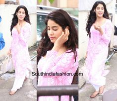 Jhanvi Kapoor In A Palazzo Kurta – South India Fashion