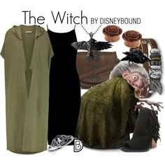 Even in animation i still love Julie Walters and this outfir is so cool for the witch from brave. By Disneybound