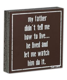 Love this 'My Father' Plaque
