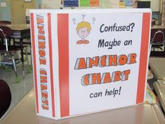 Anchor Chart Binder- teacher photographs anchor charts and stores them in a binder for the rest of the year