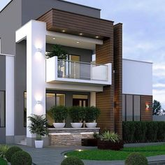 entrada fachada 13 best of modern house designs 00005 How To Build With Cobb eco building,cobb build Bungalow House Design, House Front Design, Small House Design, Modern House Design, Contemporary Design, Modern Minimalist House, Modern Tiny House, Modern House Plans, Modern Architecture House