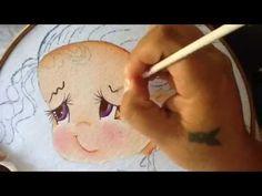 Pintura en tela niña durazno # 1 con cony - YouTube