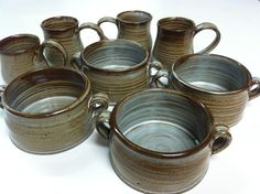 handmade bowls soup bowls stoneware bowls rustic by altheaspottery