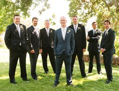 groomsmen - don't like that they are different colors, but like the suits.