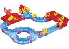 Get ready for hours of water fun with the water system play set! Combining the intrigue of a construction toy - pieces snap together to form canals - with the a...