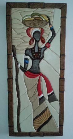 Изделия ручной работы - ВИЖЕН Clay Wall Art, Clay Art, Art Du Cuir, Inspiration Artistique, Afrique Art, African Art Paintings, Stained Glass Quilt, Muse Art, Art Sculpture