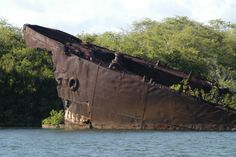The rusting remains of an American Landing Ship (Tank) in the West Loch of Pearl Harbor. She is the only remaining sign of the West Loch Disaster. Battle Of Ia Drang, Remember Pearl Harbor, Uss Arizona, Pearl Harbor Attack, Abandoned Ships, To Infinity And Beyond, Shipwreck, Battleship, Oahu
