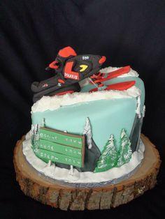 snow mobile-ski-doo cake creation Maman gateau