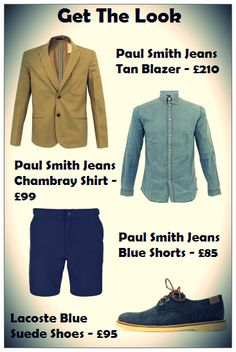 Get the summer look with Paul Smith Jeans and Lacoste