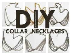 DIY: collar necklaces - Learn how to make necklaces with the Peter Pan collar look using only chain! Diy Necklace, Collar Necklace, Necklace Tutorial, Necklace Ideas, Colar Diy, Diy Fashion, Fashion Jewelry, Diy Accessories, Diy Clothes