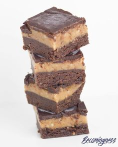 Best Ever Raw Caramel Brownie Slice is one of the best recipes that I have ever created!!! ENJOY!  Link in profile  http://www.becomingness.com.au/blog/best-ever-raw-caramel-brownie-slice