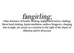 Fangirling is a part of my every day life.