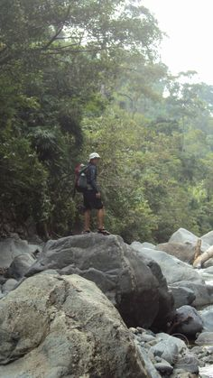 River Trekking to Maranat Falls. Bradley Mountain, Trekking, Philippines, River, Rivers, Hiking
