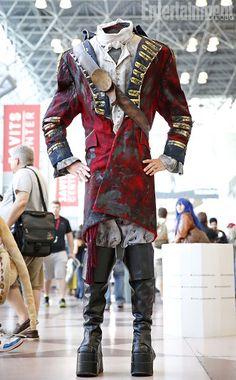 a Headless Horseman; Sleepy Hollow, Tarrytown New York, Ghost Light, Headless Horseman, Period Outfit, Season 8, Ouat, Cosplay
