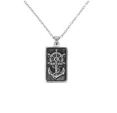 Outlander Inspired Anchor SS Square Pendant   Scottish Jewellery