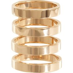 Repossi Rose Gold Four-Row Phalanx Berbère Ring ($3,890) ❤ liked on Polyvore featuring jewelry, rings, accessories, bracelets, rose gold jewelry, repossi ring, top finger rings, 18k rose gold bracelet and 18 karat gold ring