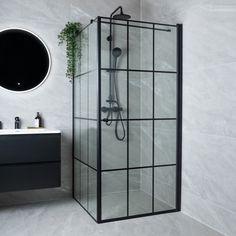 Celeste nero dusjdør - høyre m/ sikkerhetsfolie, sort - MegaFlis.no Paint Fireplace, Use Of Plastic, Black Furniture, Wall Tiles, Modern Bathroom, Sorting, Bathroom Medicine Cabinet, Accent Decor, Mid-century Modern