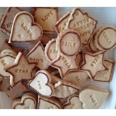 Sealed with a loving Cookie! Letter press biscuits!