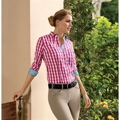 The checkered pattern of this button down shirt make it the perfect fall shirt with breeches while riding or jeans while on the town. The Fior Da Liso Veronica I Shirt will be a go-to favorite in your closet every fall.