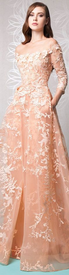 Gorgeous Long Sleeves Prom Dress 2017 Red Carpet Celebrity Dress Sheer See  Through Flower Pattern Appliques Modest Evening Dress c38541ae530ec