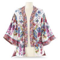Kimono-Print Jacket $69.95 I do VERY much like this jacket, too. Pair it with some palazzos and something lacy....