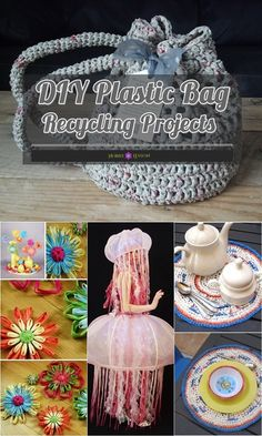 Just take some inspiration from the above ideas and start creating your DIY Plastic Bag Recycling Projects and designing them to be the masterpiece now! Reuse Plastic Bags, Plastic Bag Crafts, Plastic Bag Crochet, Fused Plastic, Plastic Shopping Bags, Plastic Recycling, Grocery Bags, Plastic Waste, Plastic Containers