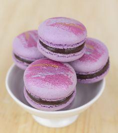 Objetivo: Cupcake Perfecto.: Macarons de chocolate y grosella