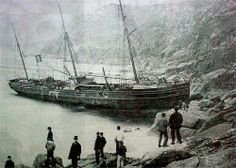 Gannet Aground at Gurnards Head, 1871.