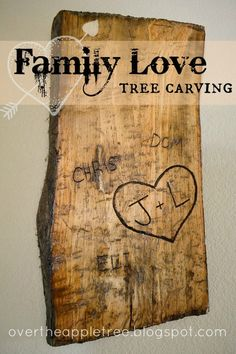 Family love carved tree
