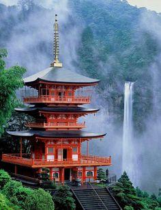 Nachi Falls in Nachikatsuura, Japan.