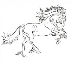 Art style on a horse