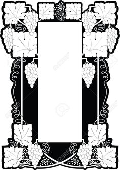 4684250-Framework-from-a-grapevine-and-grapes-brushes-in-style-art-nouveau-Stock-Vector.jpg (911×1300)