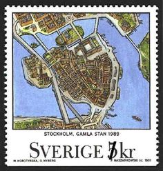 Maps, stamps, Stockholm. Nothing could be more perfect.