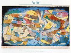 Paul Klee - Spielende Fische- Miniaturarting