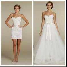 Love This Dress The Bottom Is Removable After Ceremony For Reception So You Can