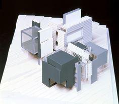 House X axon model, Peter Eisenman